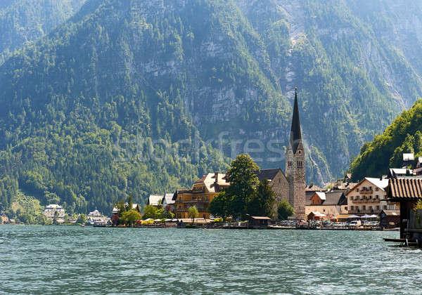 Stock fotó: Festői · falu · Ausztria · természet · hegy · zöld
