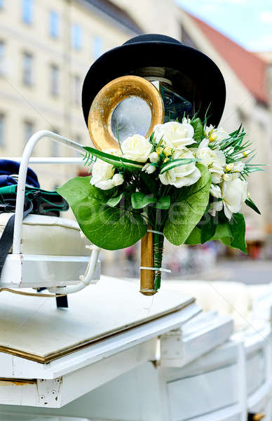 Element of a horse-drawn wedding carriage  Stock photo © amok