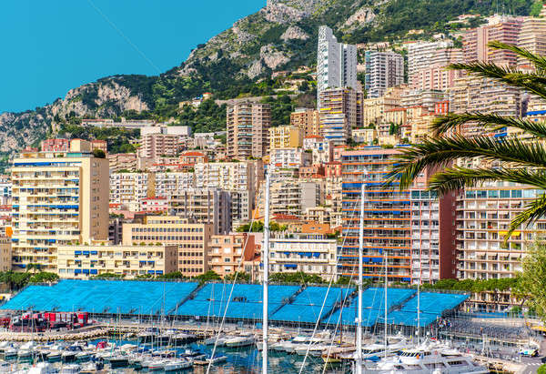 Amazing view of Monaco city. Preparation to Formula 1 Monaco Gra Stock photo © amok