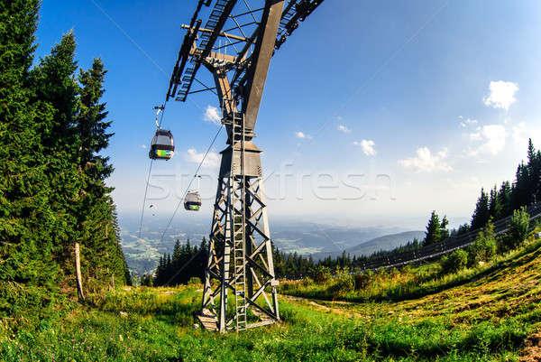 Gôndola elevador Graz Áustria paisagem verão Foto stock © amok