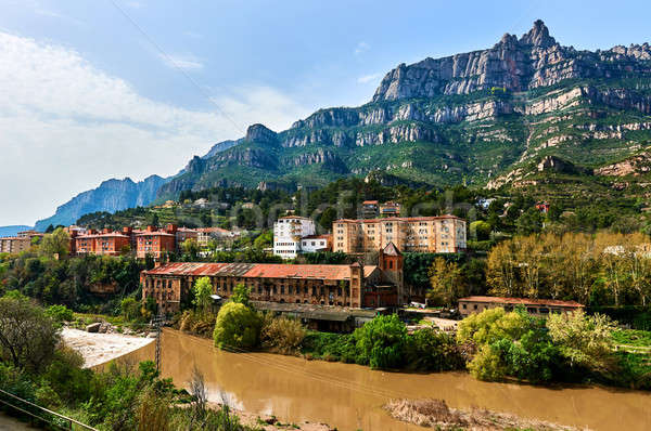 Spectacular view of Montserrat mountains  Stock photo © amok