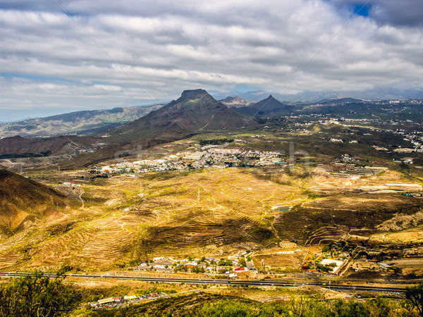 Aerial view to the Roque del Conde Stock photo © amok
