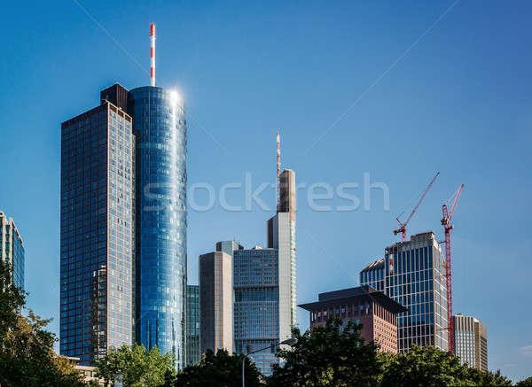 Cam modern gökdelenler Frankfurt ana Stok fotoğraf © amok