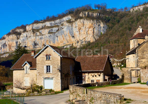 View o the Baume-les-Messieurs village. France Stock photo © amok