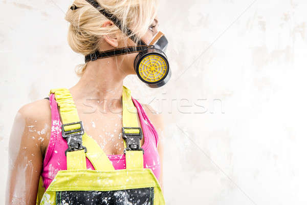 Female in respirator  Stock photo © amok
