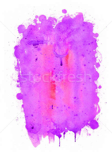 Abstract watercolor painting. Purple, red and pink colors  Stock photo © amok