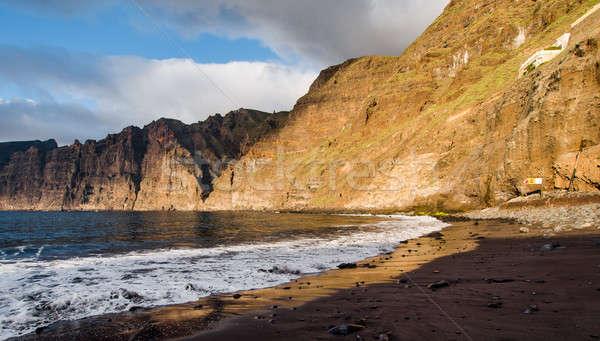 Pôr do sol canário ilha tenerife Espanha Foto stock © amok