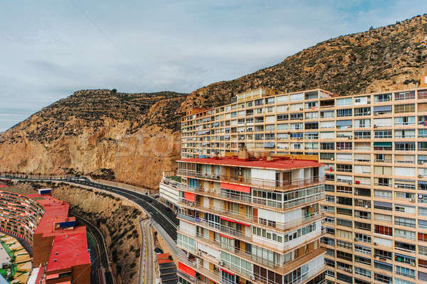Typical highrise house of Alicante city. Costa Blanca. Spain Stock photo © amok
