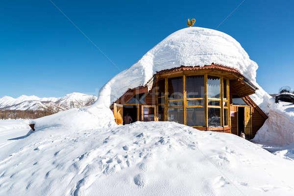 Plaats park thermisch bad gezondheid winter spa Stockfoto © amok