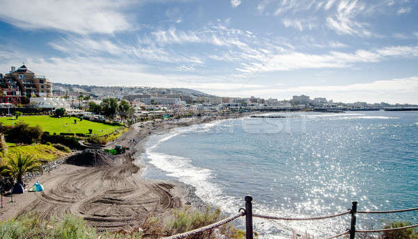 View of the Fanabe beach in Costa Adeje. Tenerife. Canary Islands Stock photo © amok