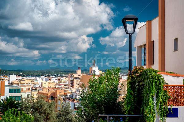 Ibiza town rooftops. Balearic Islands, Spain Stock photo © amok