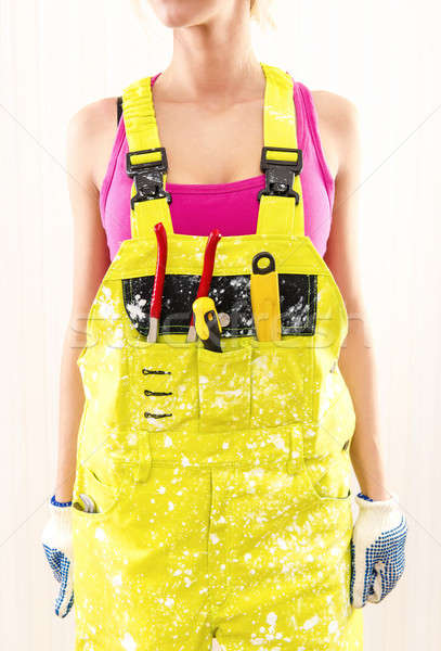 Female in coverall  Stock photo © amok