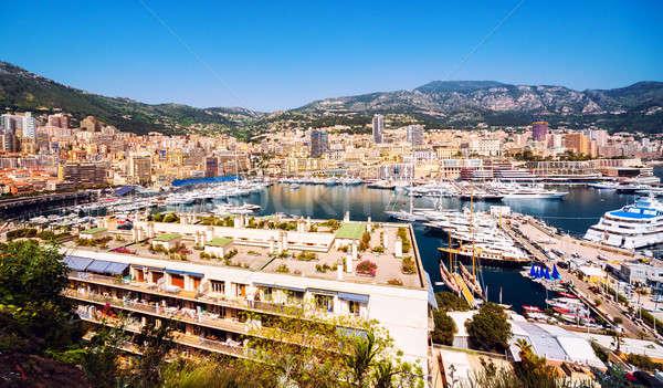 Principality of Monaco harbor Stock photo © amok