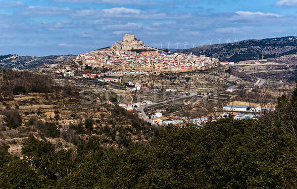 Breathtaking view of Morella town. Spain Stock photo © amok