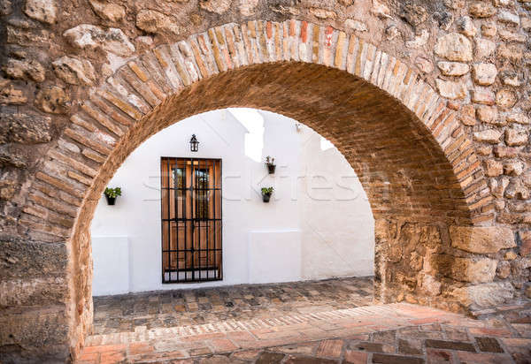 Architecture of Vejer de la Frontera. Costa de la Luz, Spain Stock photo © amok
