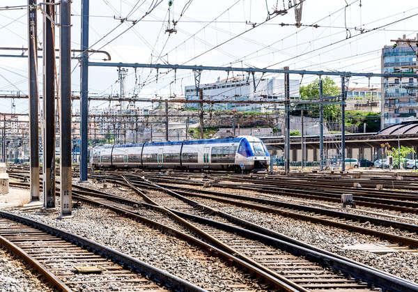 Marseille treinstation Frankrijk bouw trein reizen Stockfoto © amok