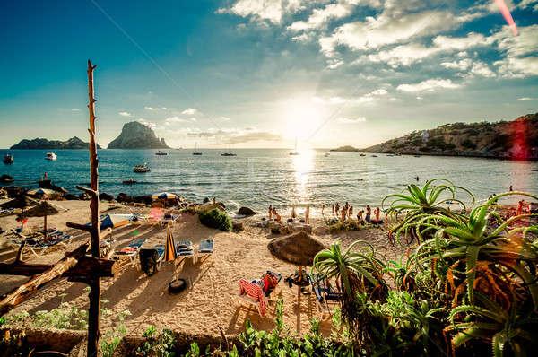 View of Cala d'Hort Beach, Ibiza Stock photo © amok