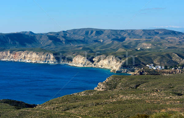 Rocky coastline of Agua Amarga. Spain Stock photo © amok