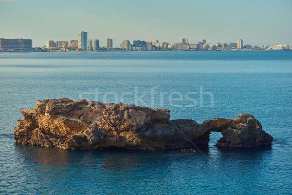 海岸線 ラ スペイン 唾 ストックフォト © amok
