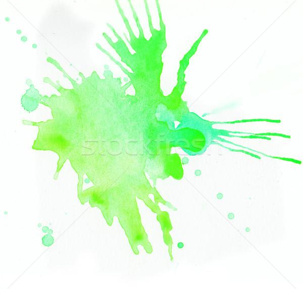 зеленый акварель белый бумаги текстуры Сток-фото © amok