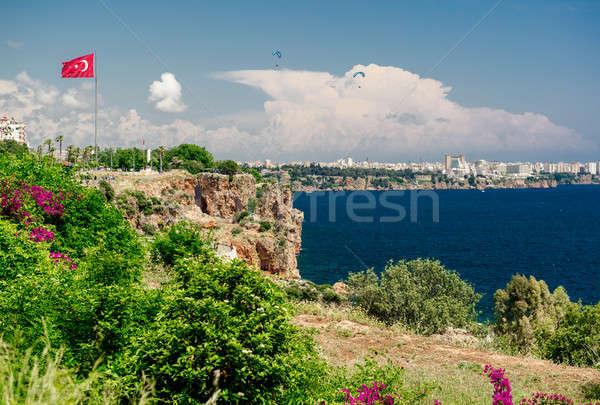 Antalya city. It is biggest international sea resort in Turkey Stock photo © amok