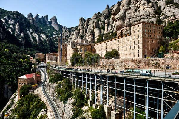 Santa Maria de Montserrat, Spain Stock photo © amok