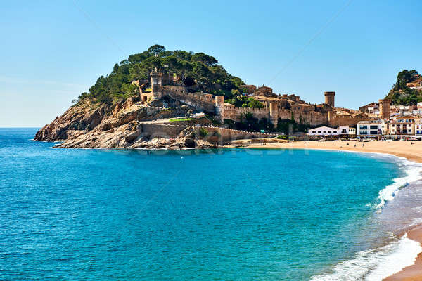 Vila Vella, the oldest part of the town of Tossa del Mar. Spain Stock photo © amok