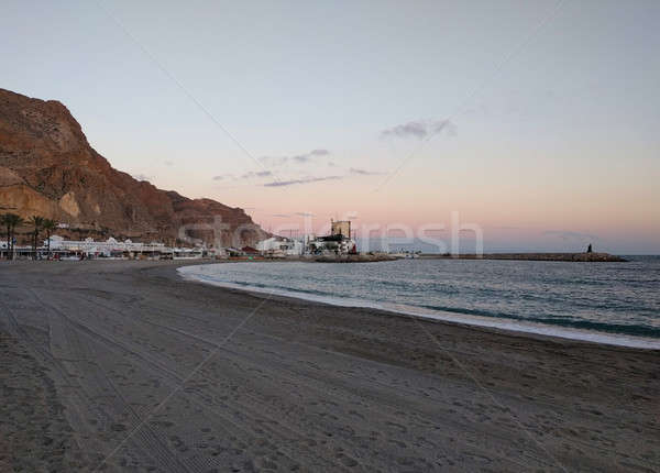 Aguadulce beach at sunset, province of Almeria. Spain Stock photo © amok