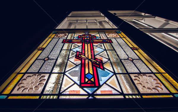 Vitray pencere kilise sanat Tanrı tapınak Stok fotoğraf © amok