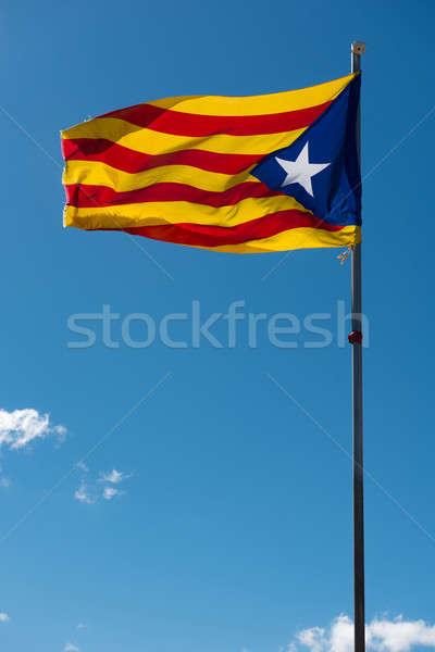 Waving flag of Catalonia Stock photo © amok