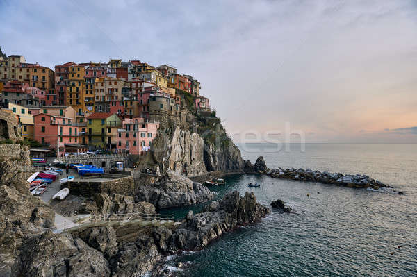 Picturesque Manarola. Liguria, Cinque Terre. Italy Stock photo © amok