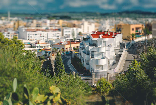 View of modern apartment in center of Ibiza city with tilt-shift Stock photo © amok