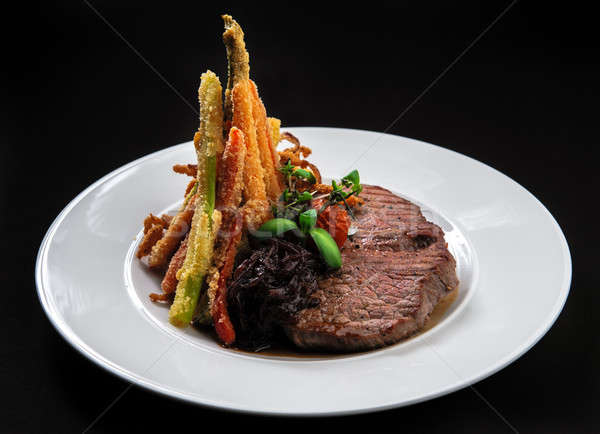 Beef steak with vegetables Stock photo © amok