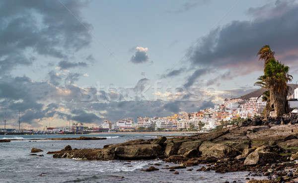 Kust tenerife Spanje gebouw natuur Stockfoto © amok