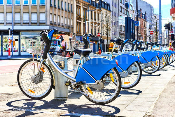 Bicycles for rent in a Luxembourg city Stock photo © amok