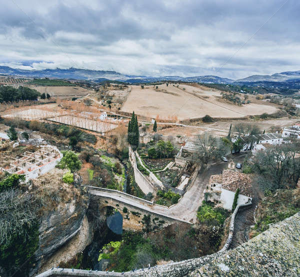 View of Ronda and surrounding countryside. Province of Malaga, A Stock photo © amok