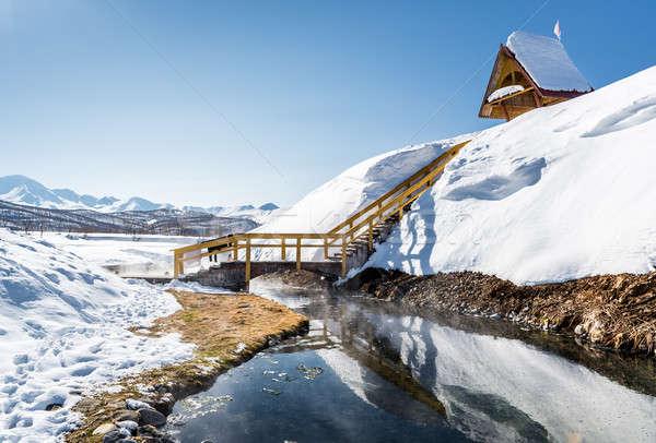 Thermisch bad park Rusland landschap sneeuw winter Stockfoto © amok