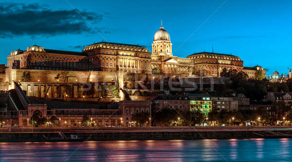 Royal Palace or Buda Castle at evening. Budapest, Hungary Stock photo © amok
