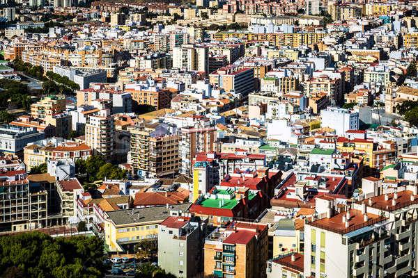 Dachy malaga sąsiedztwo Hiszpania domu budynku Zdjęcia stock © amok