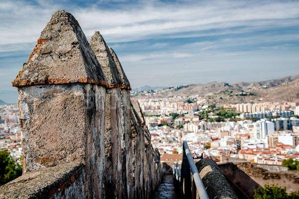 Part of Gibralfaro fortress (Alcazaba de Malaga)  Stock photo © amok