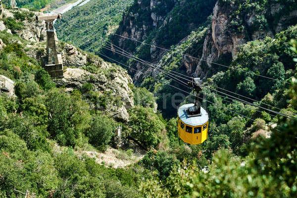 Cable car to the Santa Maria de Montserrat. Spain Stock photo © amok