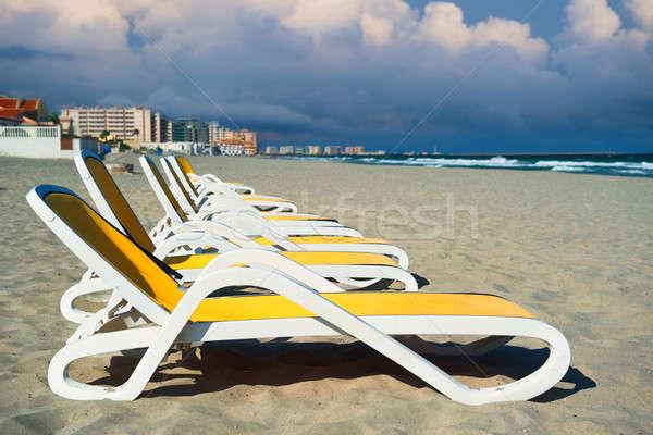 La manga Hiszpania plaży niebo Zdjęcia stock © amok