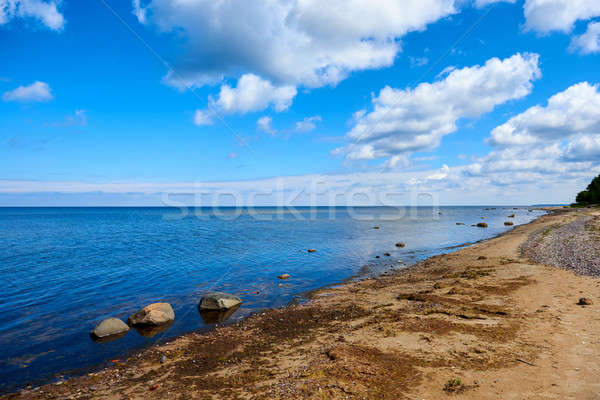 Mar báltico costa Látvia praia céu água Foto stock © amok