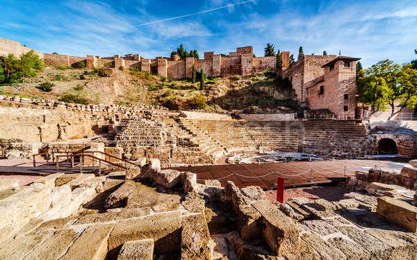 The Roman Theatre in Malaga. Andalusia, Spain Stock photo © amok
