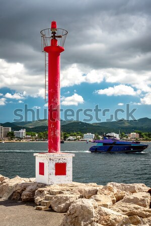 Lighthouse at the San Antonio de Portmany coast. Balearic Islands Stock photo © amok