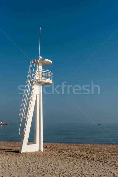 Salva-vidas torre praia Espanha céu natureza Foto stock © amok