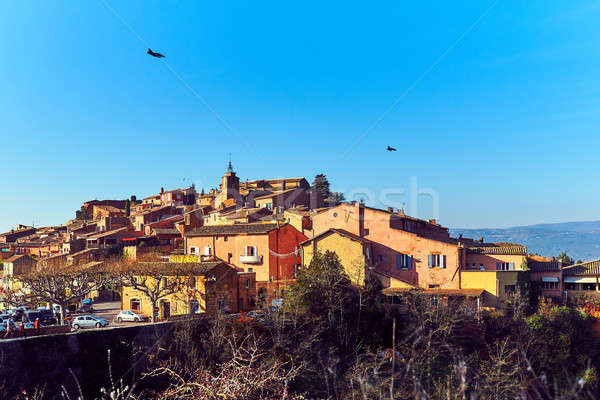 Roussillon village in France Stock photo © amok