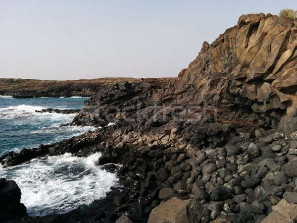 Ocean and stones.Tenerife, Canary Island Stock photo © amok
