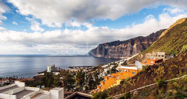 Pittoresque Resort tenerife Espagne montagne Photo stock © amok