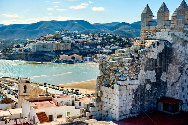 Peniscola seaside, view from the Peniscola castle. Spain Stock photo © amok